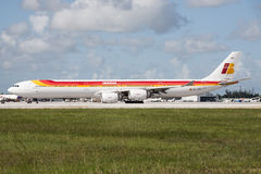 Iberia Airlines A340 aircraft Stock Images