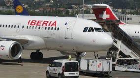 Iberia airways aircraft Stock Photos