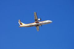 Iberia ATR 72. Royalty Free Stock Images