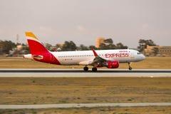 Iberia-Eilsonnenunterganglandung Lizenzfreies Stockbild
