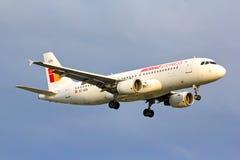 Iberia Ekspresowy Aerobus A320 Zdjęcia Stock