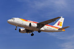 Iberia flygbuss A319 Arkivbild