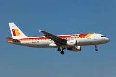Iberia flygbuss A320 Arkivfoto