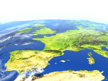 Iberia on planet Earth Royalty Free Stock Images