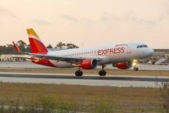Iberia zmierzchu Ekspresowy lądowanie Obrazy Royalty Free