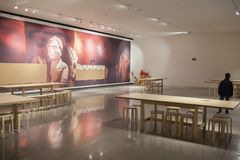 Iberian Art Museum Building in Jaen, Spain. Children room Royalty Free Stock Photography