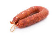 Iberian chorizo, from Barracos Royalty Free Stock Photo