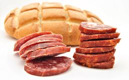 Iberian chorizo sausage Royalty Free Stock Images