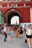 Iberian Gate of Kremlin Wall Stock Photo