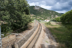 Iberian gauge railway track Royalty Free Stock Photography