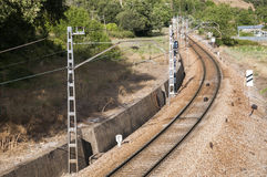 Iberian gauge railway track Royalty Free Stock Photo
