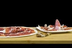 Iberian ham Stock Photos
