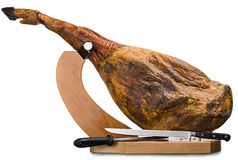 Iberian ham isolated Stock Image