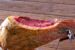 Iberian ham pata negra from Spain Stock Images