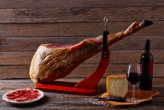 Iberian ham pata negra from Spain Stock Photos