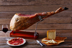 Iberian ham pata negra from Spain Royalty Free Stock Photo