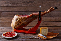 Iberian ham pata negra from Spain Royalty Free Stock Photography