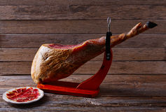 Iberian ham pata negra from Spain Royalty Free Stock Image