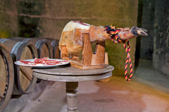 Iberian ham Royalty Free Stock Images