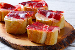 Iberian ham from Spain tapas pinchos Stock Photo