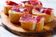 Iberian ham from Spain tapas pinchos Stock Photography