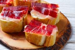 Iberian ham from Spain tapas pinchos Royalty Free Stock Photos