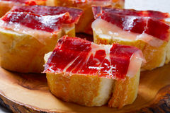 Iberian ham from Spain tapas pinchos Royalty Free Stock Images