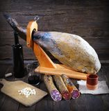 Iberian ham. Royalty Free Stock Photos