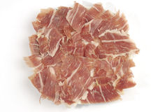 Iberian ham strips Stock Photography