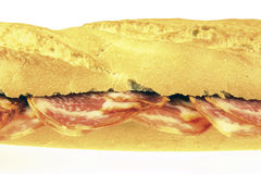 Iberian lomo sandwich Royalty Free Stock Images
