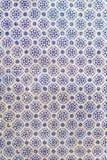 Iberian Moorish Style  Blue Pattern Stock Image