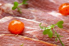 Iberian pork ham with XO sauce Royalty Free Stock Photos