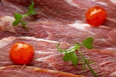 Iberian pork ham with XO sauce Royalty Free Stock Photo