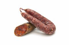 Iberian pork sausages Stock Photos