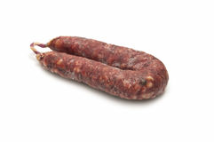 Iberian pork sausages Royalty Free Stock Image