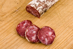 Iberian salami Royalty Free Stock Photography