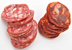 Iberian Sausage Royalty Free Stock Images