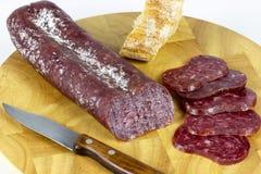 Iberian sausage table Stock Photos