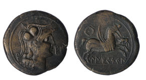 Iberian som av Ampurias århundrade II B C royaltyfria foton