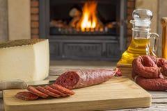 Iberian tapa for brunch Stock Image