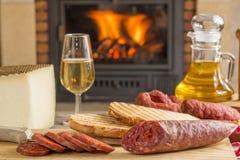 Iberian tapa for brunch Stock Images
