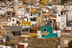 Iberian town. The view on the old Iberian town from high Stock Photos
