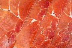 Iberico espagnol de jamon découpé en tranches Photos libres de droits
