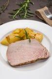 Iberico saddle pork in vertical format Royalty Free Stock Photo