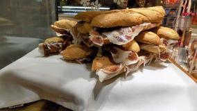 Iberico skinksmörgåsar Royaltyfria Bilder