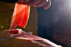 Iberische ham Stock Afbeelding