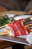 Iberische ham Royalty-vrije Stock Afbeelding