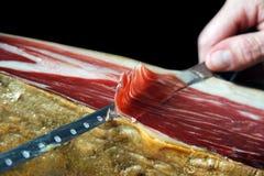 Iberische ham Royalty-vrije Stock Foto's