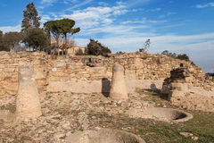 Iberische Regelung von Ullastret Stockbilder