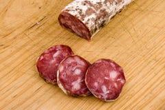 Iberische salami Royalty-vrije Stock Fotografie